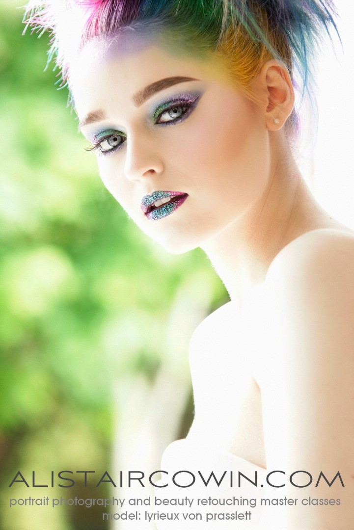 Photographed for Alistair Cowin's Beauty Books <br /> Model: Kim Cresswell  Makeup: Hannah Field