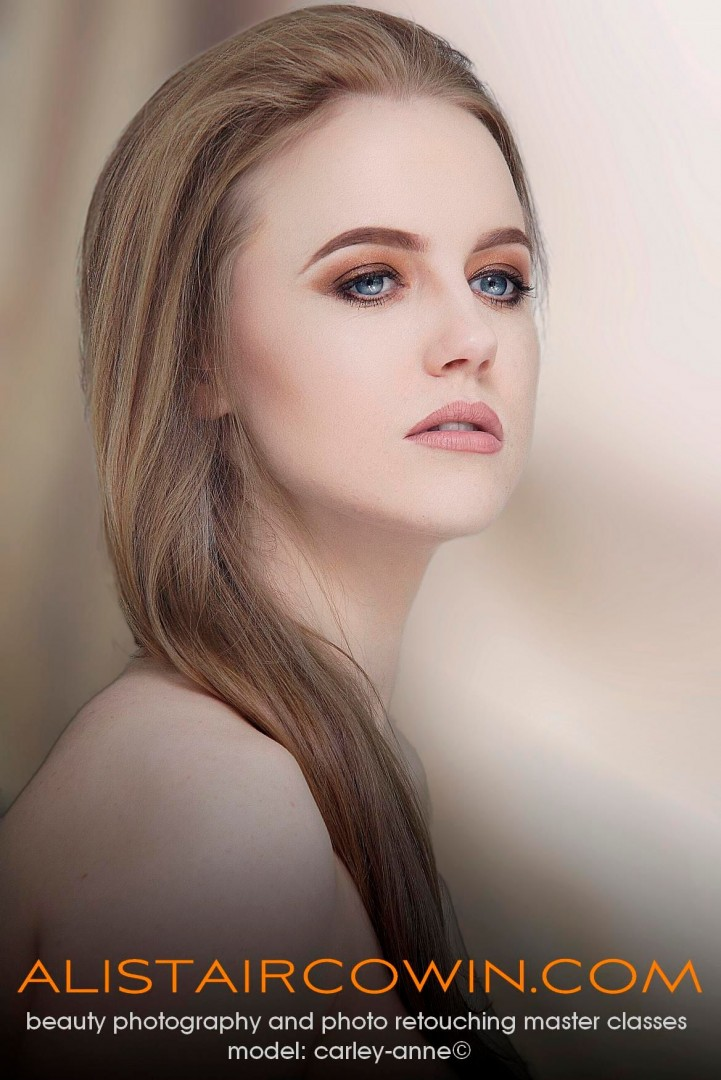 Photographed for Alistair Cowin's Beauty Books <br /> Model: Carley-Anne  Makeup: Hannah Field