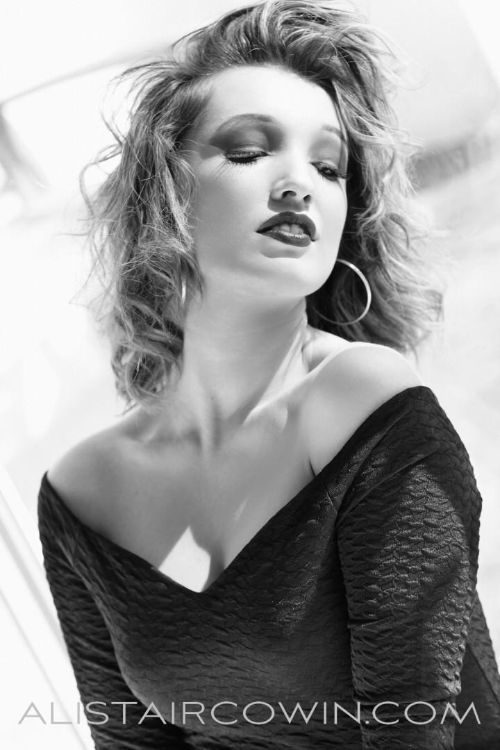 Photos shot in studio for model's Portfolio.