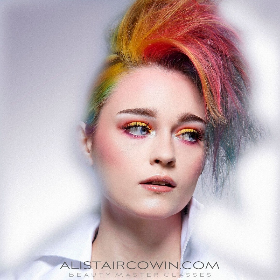 Photographed for an Alistair Cowin Beauty Master Class<br /> Model: Lyrieux   MU & Hair: Rebecca Marks