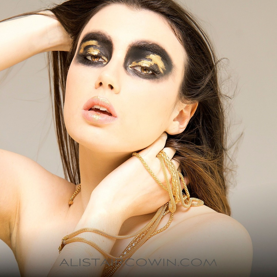 Photographed for Alistair Cowin's Beauty Book and the model's Portfolio.<br /> Model: Hannah Gardner