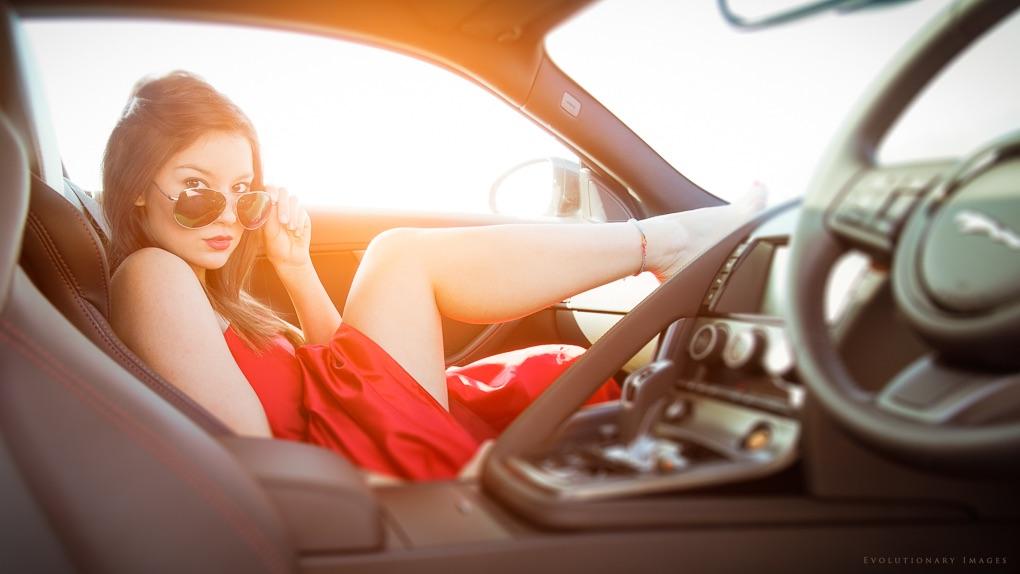 Car/fashion photoshoot with model Alexandra Aviah