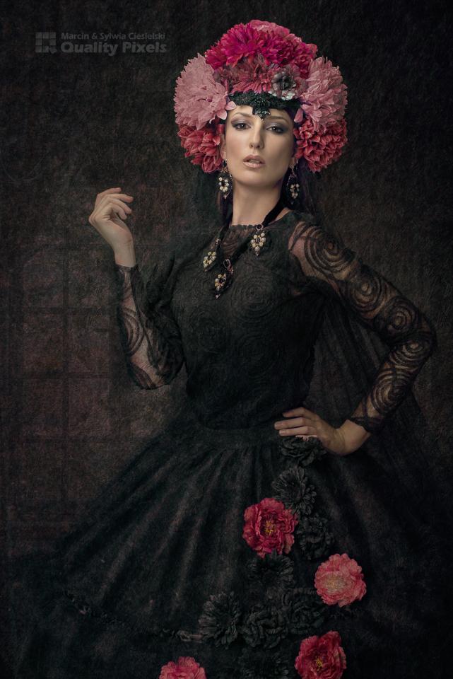 Make-up: Teresa Jolly<br /> Dress and Headpiece: Ewa Jobko